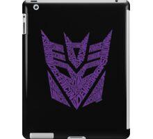 Transformers Decepticons Purple iPad Case/Skin