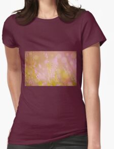 Subtle pink heather macro Womens Fitted T-Shirt