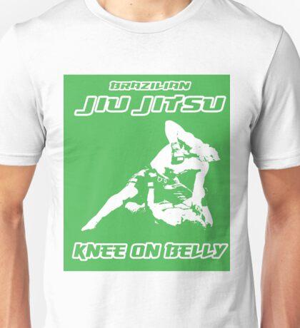 Brazilian Jiu Jitsu Knee On Belly Green  Unisex T-Shirt