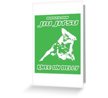 Brazilian Jiu Jitsu Knee On Belly Green  Greeting Card
