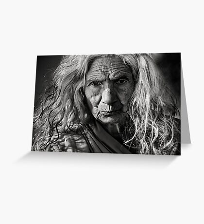 Woman portrait  Greeting Card