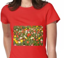 tulips mix grow in garden Womens Fitted T-Shirt