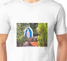 Virgin Mary With Potted Flowers Unisex T-Shirt