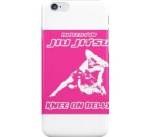 Brazilian Jiu Jitsu Knee On Belly Pink iPhone Case/Skin