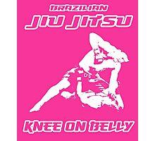 Brazilian Jiu Jitsu Knee On Belly Pink Photographic Print