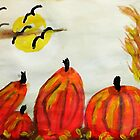 Falling for fall weather!, watercolor by Anna  Lewis