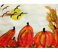 Falling for fall weather!, watercolor Photographic Print