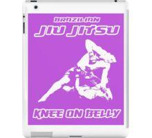 Brazilian Jiu Jitsu Knee On Belly Purple  iPad Case/Skin
