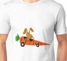 Hilarious Bunny Rabbit Driving Carrot Car Unisex T-Shirt