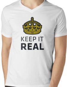 Keep It Real Mens V-Neck T-Shirt
