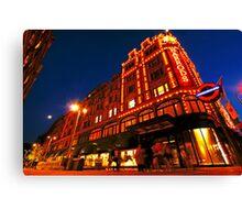 London Harrods Luxury Lights Canvas Print