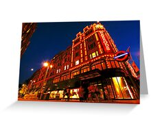 London Harrods Luxury Lights Greeting Card