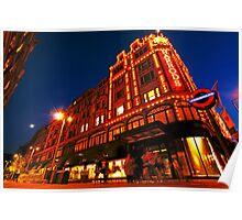 London Harrods Luxury Lights Poster