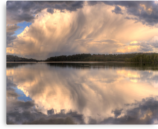 Brush Stroke - Narrabeen Lakes,Sydney - The HDR Experience by Philip Johnson