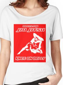 Brazilian Jiu Jitsu Knee On Belly Red  Women's Relaxed Fit T-Shirt