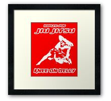 Brazilian Jiu Jitsu Knee On Belly Red  Framed Print