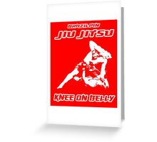 Brazilian Jiu Jitsu Knee On Belly Red  Greeting Card
