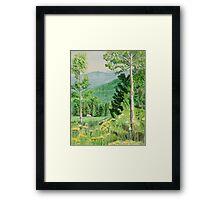 Rocky Mountain Scene Framed Print