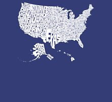 USA States White Unisex T-Shirt