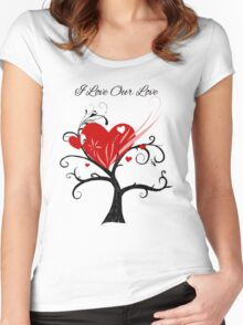 "Heart Tree ""I Love Our Love"" Women's Fitted Scoop T-Shirt"