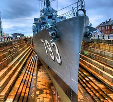 USS Cassin Young in Historic Drydock No.1 by Timothy M. Robison