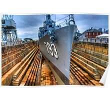 USS Cassin Young in Historic Drydock No.1 Poster