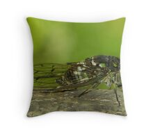 cicada singing ( for challenge) Throw Pillow