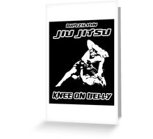 Brazilian Jiu Jitsu Knee On Belly Black Greeting Card