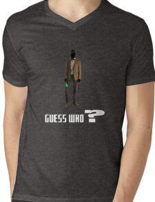 Guess who? Mens V-Neck T-Shirt