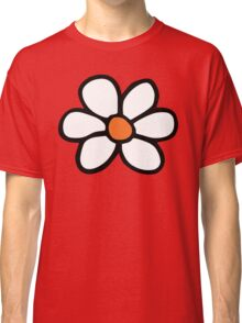 Hippie flower cartoon Classic T-Shirt