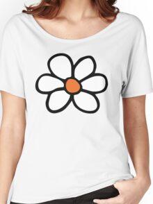 Hippie flower cartoon Women's Relaxed Fit T-Shirt