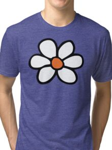 Hippie flower cartoon Tri-blend T-Shirt