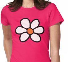 Hippie flower cartoon Womens Fitted T-Shirt