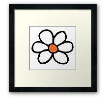 Hippie flower cartoon Framed Print