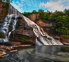 Ithaca Falls, Ithaca New York by RPAspey