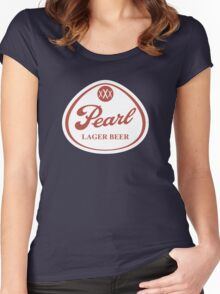 Pearl Lager Beer Women's Fitted Scoop T-Shirt