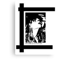 FRAU AUS HAMBURG, BLACK AND WHITE Canvas Print