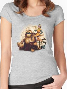 Lucca & Robo Women's Fitted Scoop T-Shirt
