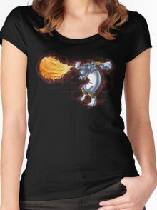 Street Art Fighter 2- Yoga Paint! Women's Fitted Scoop T-Shirt