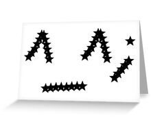 Star face Greeting Card