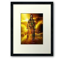 hopi prophecy Framed Print