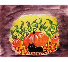 Happy Halloween, watercolor Photographic Print