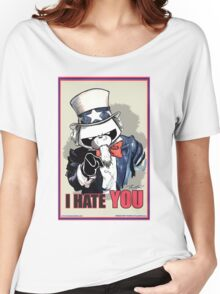 Pissed OFF Panda Uncle Sam Women's Relaxed Fit T-Shirt