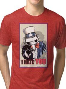 Pissed OFF Panda Uncle Sam Tri-blend T-Shirt