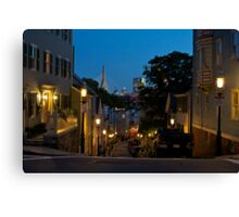Along the Charles Canvas Print
