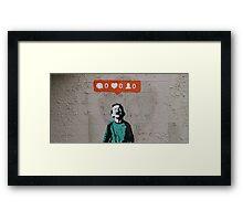IHeart Banksy Framed Print