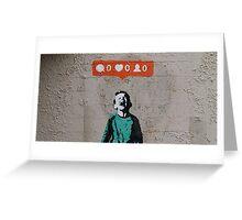 IHeart Banksy Greeting Card