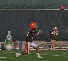 WR #10 Jordan Norwood Cleveland Browns by Henry Plumley