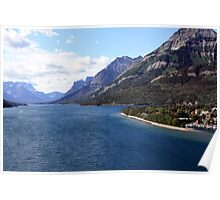 Waterton Lake from Prince of Wales Poster