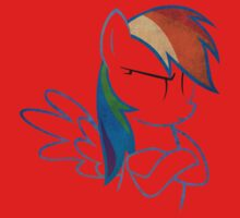 RainbowDash: Not amused Outline One Piece - Short Sleeve